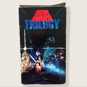 Star Wars VHS Trilogy Box Set of Three Tapes Used
